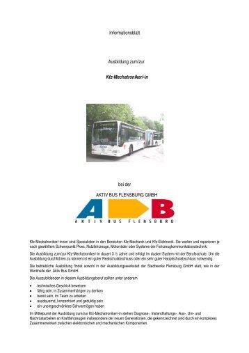 Informationsblatt Ausbildung zum/zur Kfz-Mechatroniker/-in bei der ...