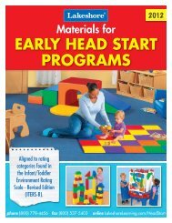 Early Head Start Programs - Lakeshore Learning Materials