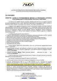 AVVISO INFORMATIVO DI PROCEDURA NEGOZIATA - AMGA