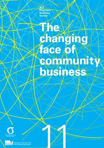 The Changing Face of Community Business report (2011) (PDF ...