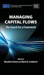 Managing Capital Flows - Asian Development Bank Institute