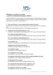 Öffentliches Verfahrensverzeichnis - VPV Versicherungen