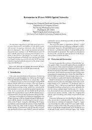 Restoration in IP over WDM Optical Networks - Radford University