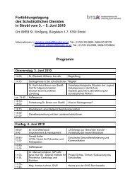 Programm Entwurf Strobl 2010 - Schule.at