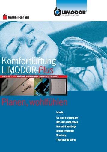 Komfortlüftung LIMODOR-Plus Planen, wohlfühlen - Trivent AG