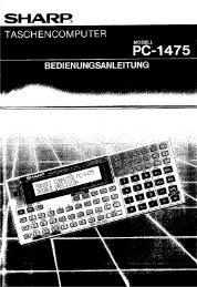 PC-1475 Operation-Manual DE - Instructions Manuals