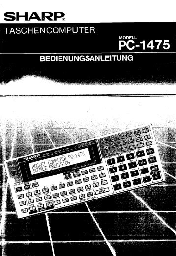 PC-1475 Operation-Manual DE - Instructions Manuals