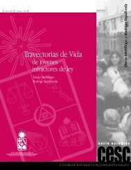 Trayectorias de Vida - Centro de Estudios en Seguridad Ciudadana ...