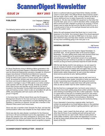 Issue 24 - Scanner Digest Newsletter