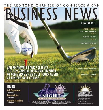 August Newsletter 2013 - Redmond Chamber of Commerce