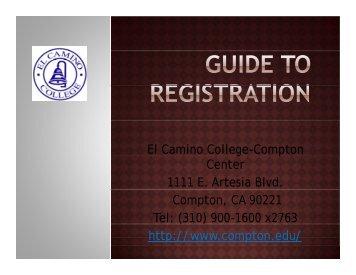 Guide to Registration - El Camino College Compton Center