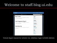 Welcome to staff.blog.ui.edu - Blog Staff UI