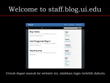 Welcome to staff.blog.ui.edu - Blog Staff UI