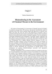 Biomonitoring in the Assessment of Chemical Threats to the ...