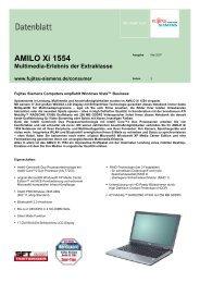 AMILO Xi 1554 Multimedia-Erlebnis der Extraklasse