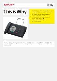 Duomenų lapas UX73EU - Sharp