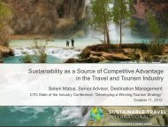 Sustainability as a Source of Competitive Advantage in the Travel ...