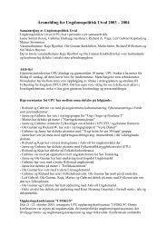 Årsmelding for Ungdomspolitisk Utval 2003 – 2004 - Sogn og ...