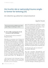To former for tenkning (III) - Antroposofisk Selskap i Norge