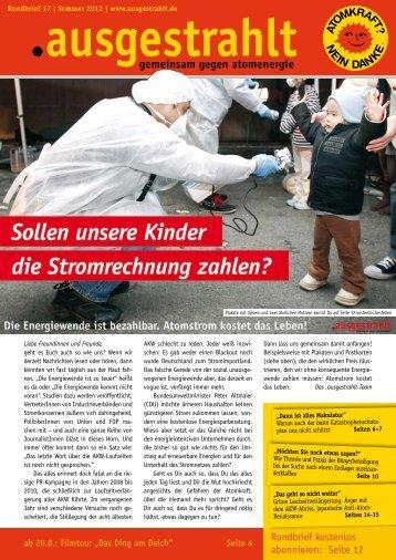 Rundbrief 17 als PDF - Shop - Ausgestrahlt