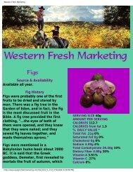 Western Fresh Marketing - Figs 4 Fun