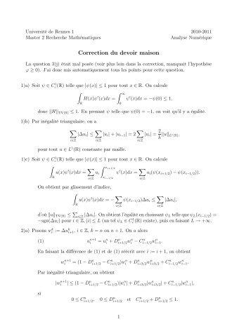 Aide la correction devoirs de sciences for Aide devoir maison