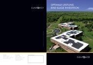 OPTIMALE LEISTUNG EINE KLUGE INVESTITION - SAT Solar