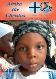 Nr. 3 März - bei den Missionsschwestern des hl. Petrus Claver
