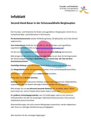 Infoblatt zum Warenverkauf - foerderverein-berghaupten.de