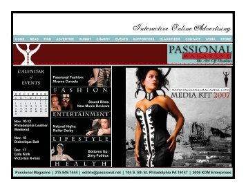 Download the Media Kit PDF - Passional Magazine