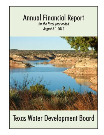Annual Financial Report for fiscal year ended August 31, 2012