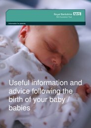 Information for parents - The Royal Berkshire NHS Foundation Trust
