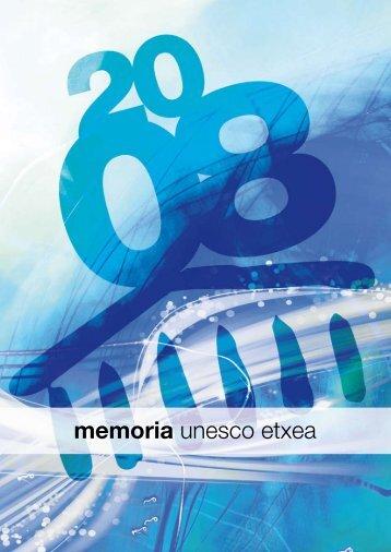 memoria 2008 - Unesco Etxea