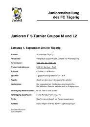 Spielplan Junioren F Turnier 5. Mai 2012 mit Änderung ... - FC Tägerig
