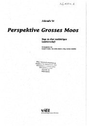 Perspektive Grosses Moos - ETH Zurich - Natural and Social ...