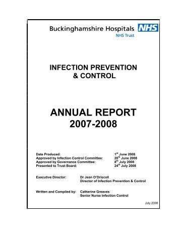 a report on infection control Two inspection reports on infection prevention and control practices in public  acute hospitals have been published today by the health.