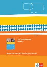 Synopse für deutsch.kombi plus Klasse 5 in Bayern (PDF Datei ...