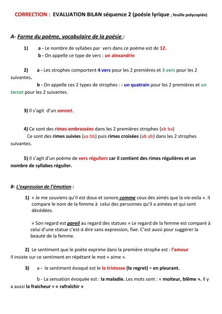 Correction Evaluation Bilan Sãquence 2