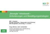 """""""Bewegte"""" Arbeitswelt - Institut für Betriebliche Gesundheitsförderung"""