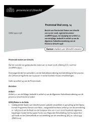 Provinciaal blad 14 van 2009 (PDF, 110 kB) - Provincie Utrecht