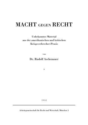 Macht gegen Recht - German Victims