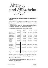 Die Leistungen und Kosten in unserem CBT-Wohnhaus St. Michael ...