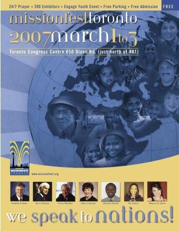 MISSIONFEST TORONTO • 2007 1 - Amazon Web Services