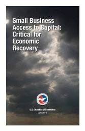 Small Business Access to Capital: Critical for Economic Recovery