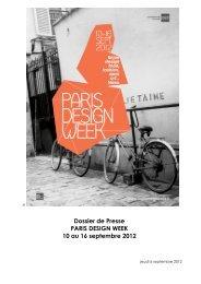 06/09/2012 - Paris Design Week