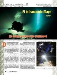 El inframundo maya y los sistemas kársticos, parte II.