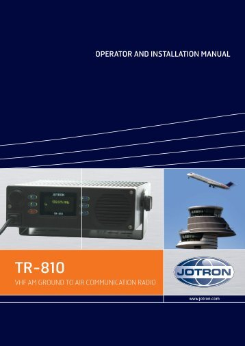 Operators handbook TR7750 - Jotron