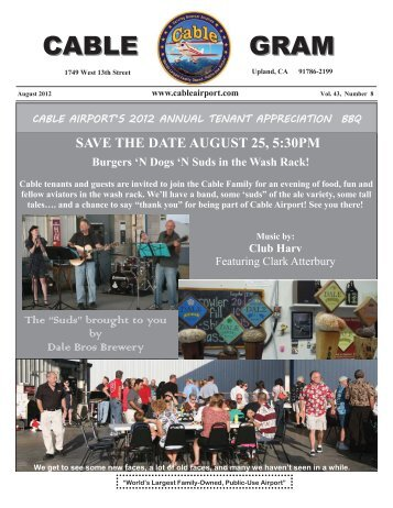 August Newsletter 2012 - Foothill Flying Club