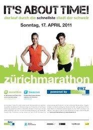 Sonntag, 17. APRIL 2011 - Zürich Marathon