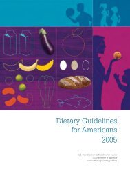 Dietary Guidelines for Americans 2005 - Health.gov